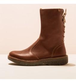 Botas de piel 5577 Volcán marrón
