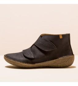 Zapatos de piel N5729 Borago marrón oscuro
