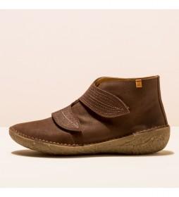 Zapatos de piel N5729 Borago marrón