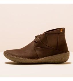 Botines de piel N5730 Borago marrón