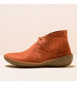 Botines de piel N5730 Borago marrón teja