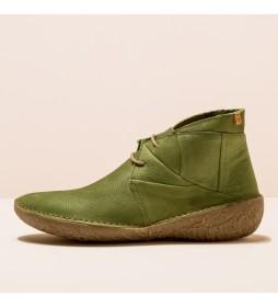 Botines de piel N5730 Borago verde