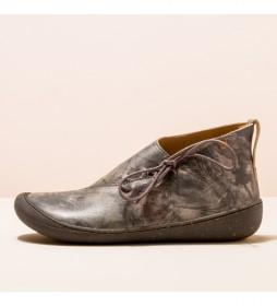 Botines de piel N5771 Pawikan gris estampado
