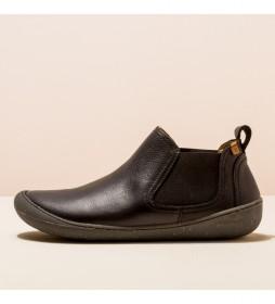 Zapatos de piel N5772 Pawikan negro