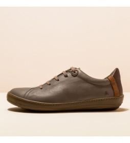 Zapato de piel Meteo gris