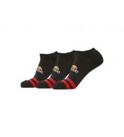 Pack de 3 calcetines Melna negro