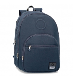 Mochila Basic azul -32x46x17cm-