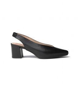 Zapatos de piel 1496 negro -Altura tacón: 6,5cm-