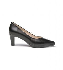 Zapatos de piel 1498 negro -Altura tacón: 8,5cm-