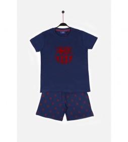 Pijama Manga Corta Escudo marino