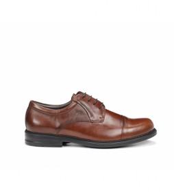 Zapatos de piel Simon 8468 marrón
