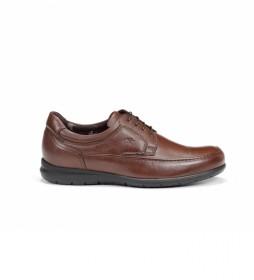 Zapatos de piel 8498_ave marrón