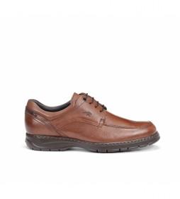 Zapatos de piel Crono 9142 Salvate marrón
