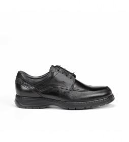 Zapatos de piel Crono 9142 Salvate negro