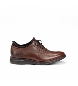 Zapatos de piel Fenix 9844 marrón