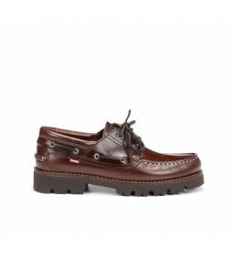 Zapatos de piel Richfield F0046 marrón