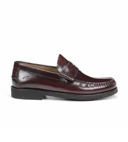 Zapatos de piel Stamford burdeos