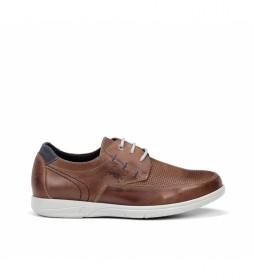 Zapatos de piel F0119 Sumatra marrón