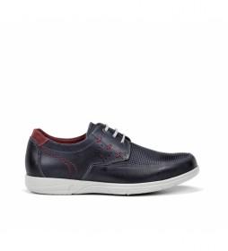 Zapatos de piel F0119 Sumatra marino