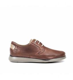 Zapatos de piel Jone F0460 marrón