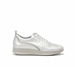 Zapatillas de piel Chack F0477 blanco
