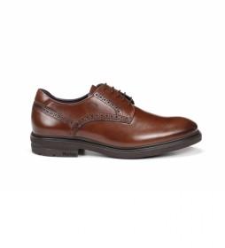 Zapatos de piel Belgas  F0630 marrón