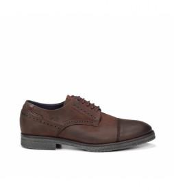 Zapatos de piel Gamma F0654 marrón