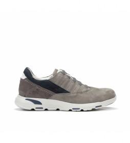 Zapatillas de piel F0674 taupe