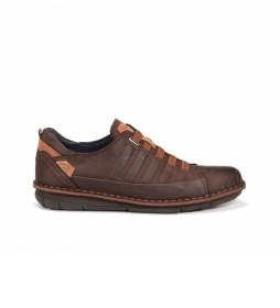 Zapatos de piel Alfa F0703 castaño