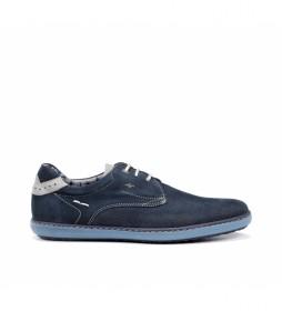Zapatillas de piel Timor F0715 marino