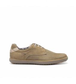 Zapatillas de piel Timor F0715 marrón