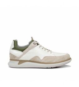 Zapatillas de piel Cooper F0742 beige