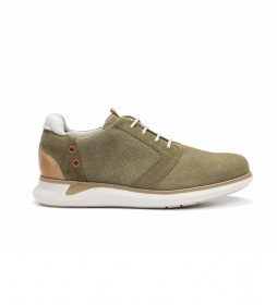 Zapatillas de piel Cooper F0745 verde