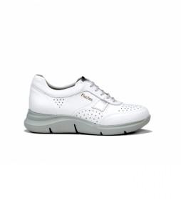 Zapatillas de piel Tropical F0766 blanco