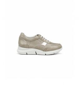Zapatillas de piel Tropical F0766 gris