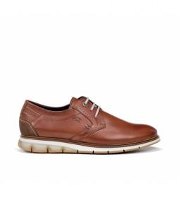 Zapatos de piel F0776 Habana marrón