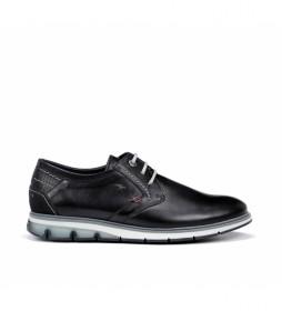 Zapatos de piel F0776 Habana marino