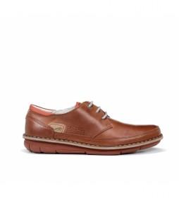 Zapatos de piel Alfa F0787 Habana marrón