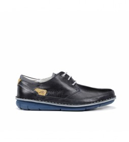 Zapatos de piel Alfa F0787 Habana marino