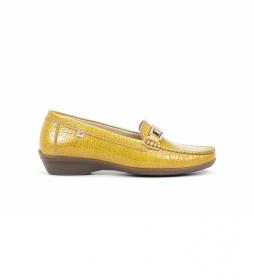 Mocasines de Piel F0807 Yango amarillo