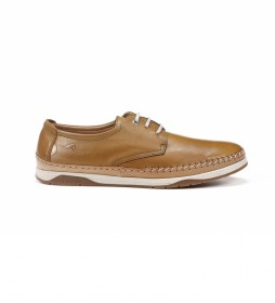 Zapatos de Piel F0811 Habana marrón