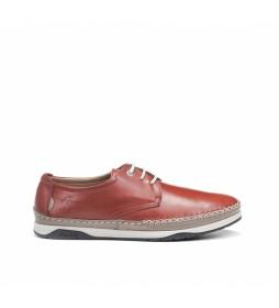 Zapatos de piel Kendal F0811 rojo