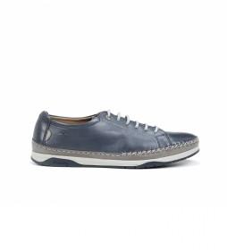 Zapatos de piel Kendal F0812 azul