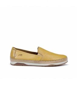 Zapatos de piel Kendal F0814 amarillo