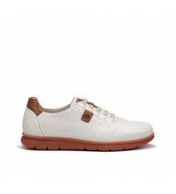 Zapatillas de piel Iron F0848 Samun blanco
