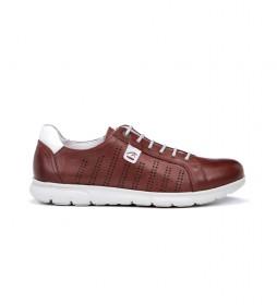 Zapatillas de piel Iron F0852 rojo
