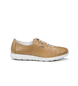 Zapatos de piel Nui F0854 Samun mostaza