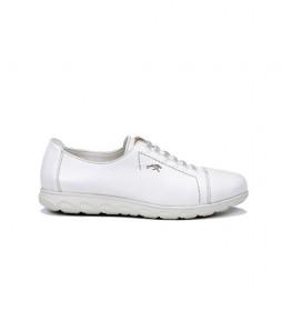 Zapatos de piel Nui F0854 Samun blanco
