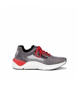 Zapatillas Atom F0880 gris, rojo