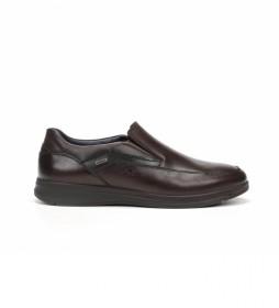 Zapatos de piel F0910 Coral marrón